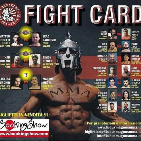 LUDUS MAGNUS FIGHT CARD